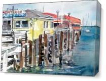 Day At The Wharf As Canvas