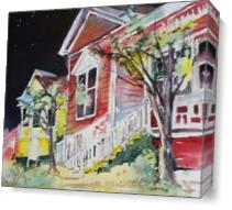 Little Italy At Night As Canvas
