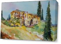 Tuscan Charm As Canvas