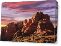Sedona Sunset As Canvas