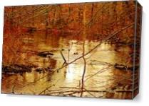 Russel Lake Mi As Canvas