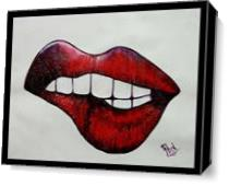 Oops Its Lips As Canvas