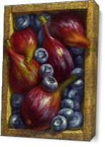 Figs And Blueberries As Canvas