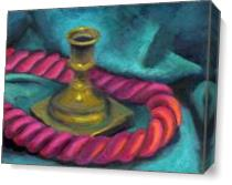 Silk Rope And Candlestick As Canvas