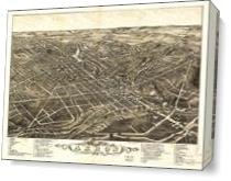 Aerial View Of Akron, Ohio (1882) As Canvas