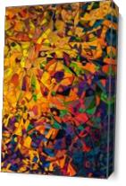 Colorful Abstract Art As Canvas