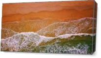 Aerial View Of Waves Crashing On A Beach As Canvas