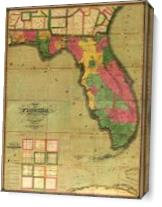 Map Of Florida (1829) As Canvas