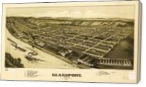 Aerial View Of Glassport, Pennsylvania (1902) - Gallery Wrap
