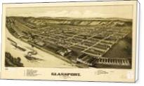 Aerial View Of Glassport, Pennsylvania (1902) - Standard Wrap