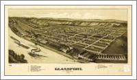 Aerial View Of Glassport, Pennsylvania (1902) - No-Wrap