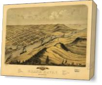 Bird's Eye View Of Grand Haven, Michigan (1868) As Canvas