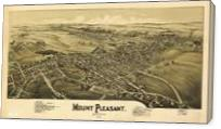 Aerial View Of Mount Pleasant, Pennsylvania (1900) - Gallery Wrap