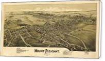 Aerial View Of Mount Pleasant, Pennsylvania (1900) - Standard Wrap