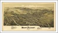 Aerial View Of Mount Pleasant, Pennsylvania (1900) - No-Wrap