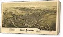 Aerial View Of Mount Pleasant, Pennsylvania (1900) - Gallery Wrap Plus