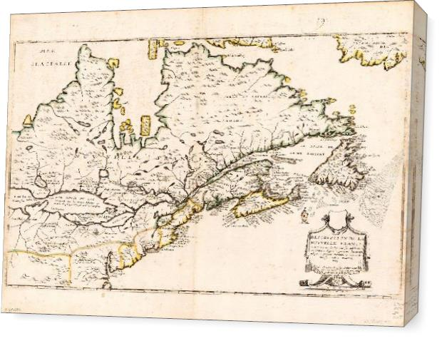 Map Of Canada (Nouvelle France) 1643