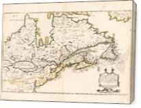 Map Of Canada (Nouvelle France) 1643 - Gallery Wrap