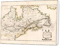 Map Of Canada (Nouvelle France) 1643 - Standard Wrap