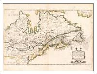 Map Of Canada (Nouvelle France) 1643 - No-Wrap