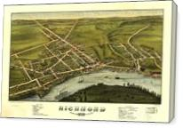 Aerial View Of Richmond, Maine (1878) - Gallery Wrap
