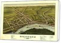 Aerial View Of Richmond, Maine (1878) - Standard Wrap