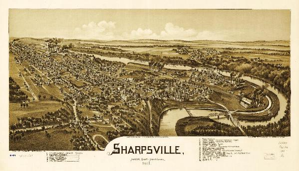 Aerial View Of Sharpsville, Pennsylvania (1901)