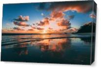 Sunset At The Beach As Canvas
