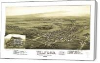Aerial View Of Telford, Pennsylvania (1894) - Gallery Wrap
