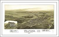 Aerial View Of Telford, Pennsylvania (1894) - No-Wrap
