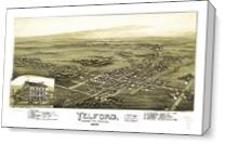 Aerial View Of Telford, Pennsylvania (1894) - Gallery Wrap Plus