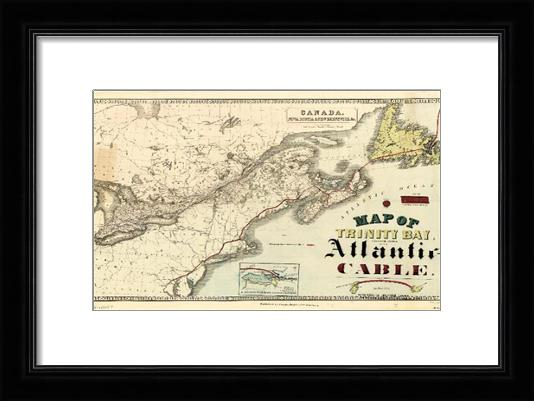 Map Of Trinity Bay, Telegraph Station Of The Atlantic-Cable (1901)