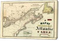 Map Of Trinity Bay, Telegraph Station Of The Atlantic-Cable (1901) - Gallery Wrap