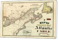 Map Of Trinity Bay, Telegraph Station Of The Atlantic-Cable (1901) - Standard Wrap