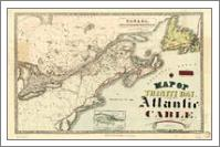 Map Of Trinity Bay, Telegraph Station Of The Atlantic-Cable (1901) - No-Wrap