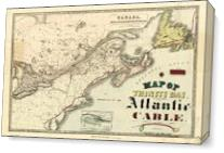 Map Of Trinity Bay, Telegraph Station Of The Atlantic-Cable (1901) - Gallery Wrap Plus