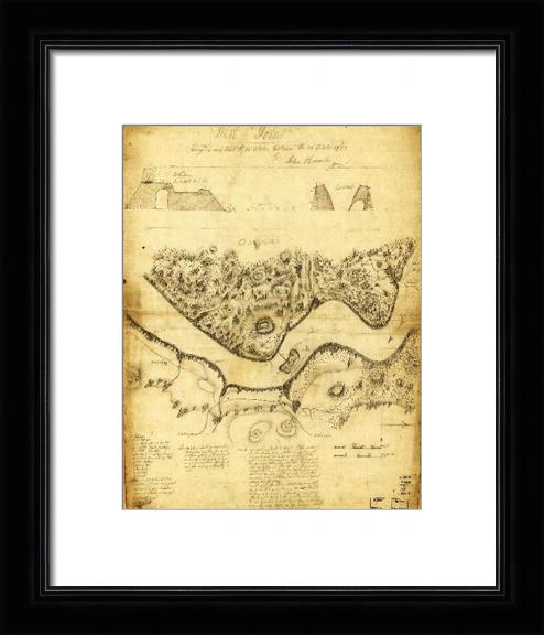 Original West Point Survey Map October 24th-27th 1783