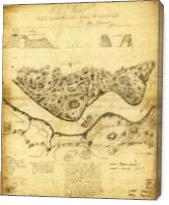 Original West Point Survey Map October 24th-27th 1783 - Gallery Wrap