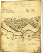 Original West Point Survey Map October 24th-27th 1783 - Standard Wrap