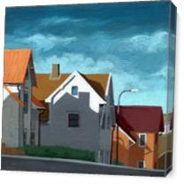 Row Houses - Cityscape Architecture As Canvas
