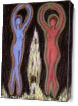 Dancing Figures As Canvas