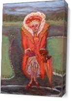 Old Woman In Park As Canvas