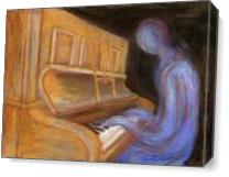 The Piano Player As Canvas