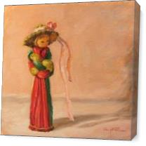 Una Cinta Rosa En El Sombrero As Canvas