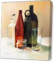 Bottle Glass As Canvas
