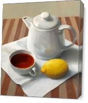 Tea With Lemon As Canvas