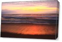 First Light At Nauset Light Beach As Canvas