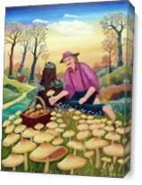 Harvesting Mushrooms As Canvas