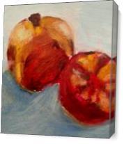 Ripe Pomegranate As Canvas