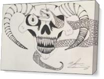 Demonic Snake As Canvas